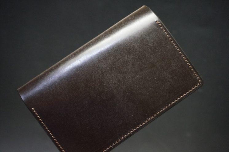 セドウィック社製ブライドルレザーのチョコ色の名刺入れ-1-1