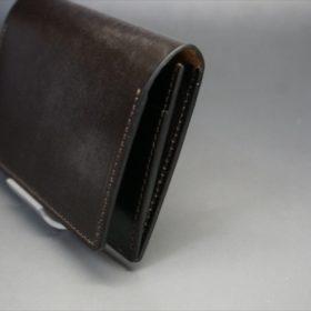 セドウィック社製ブライドルレザーのチョコ色の名刺入れ-1-3