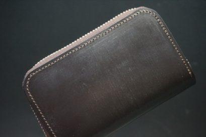 セドウィック社製ブライドルレザーのチョコ色のラウンドファスナー小銭入れ(シルバー色)-1-1