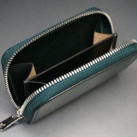 セドウィック社製ブライドルレザーのダークグリーン色のラウンドファスナー小銭入れ(シルバー色)-1-11