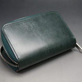 セドウィック社製ブライドルレザーのダークグリーン色のラウンドファスナー小銭入れ(シルバー色)-1-8