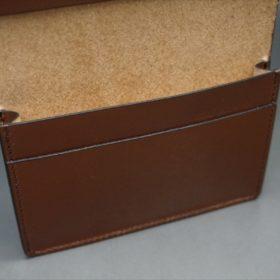 セドウィック社製ブライドルレザーのヘーゼルブラウン色の名刺入れ-1-11