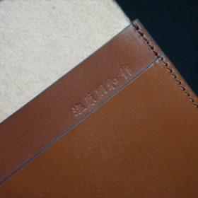 セドウィック社製ブライドルレザーのヘーゼルブラウン色の名刺入れ-1-12