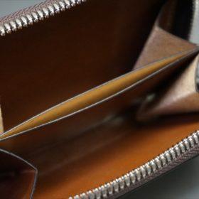 セドウィック社製ブライドルレザーのヘーゼル色のラウンドファスナー小銭入れ(シルバー色)-1-11