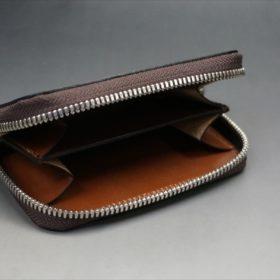 セドウィック社製ブライドルレザーのヘーゼル色のラウンドファスナー小銭入れ(シルバー色)-1-7