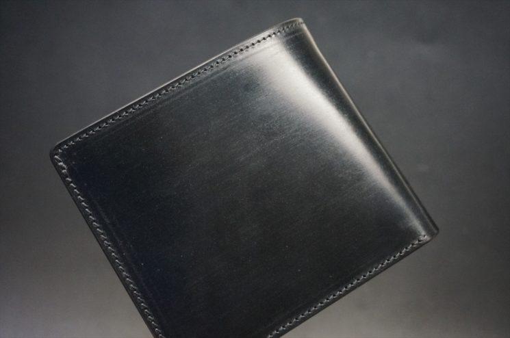 セドウィック社製ブライドルレザーのブラック色の二つ折り財布(ゴールド色)-1-1