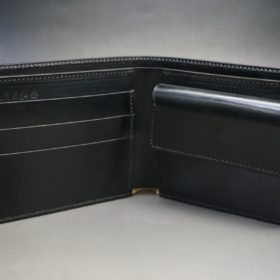 セドウィック社製ブライドルレザーのブラック色の二つ折り財布(ゴールド色)-1-6