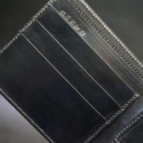 セドウィック社製ブライドルレザーのブラック色の二つ折り財布(ゴールド色)-1-7