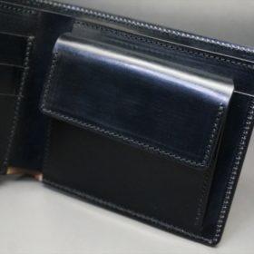 セドウィック社製ブライドルレザーのブラック色の二つ折り財布(ゴールド色)-1-8