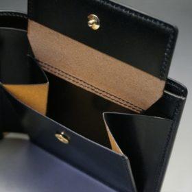 セドウィック社製ブライドルレザーのブラック色の二つ折り財布(ゴールド色)-1-9