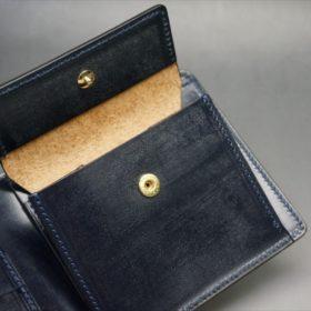 セドウィック社製ブライドルレザーのネイビー色の二つ折り財布(小銭入れ付き)-1-10