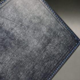セドウィック社製ブライドルレザーのネイビー色の二つ折り財布(小銭入れ付き)-1-3