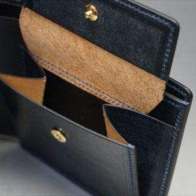 セドウィック社製ブライドルレザーのネイビー色の二つ折り財布(小銭入れ付き)-1-9