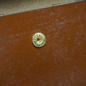 ホーウィン社製シェルコードバンの#4色の二つ折り財布(ゴールド色)-1-12