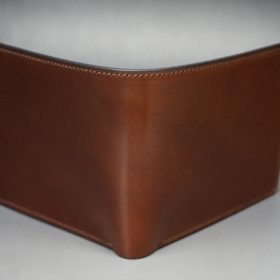 ホーウィン社製シェルコードバンの#4色の二つ折り財布(ゴールド色)-1-2