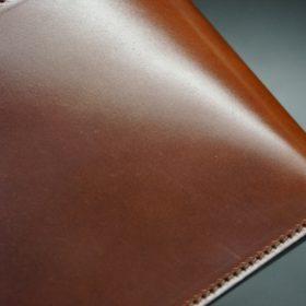 ホーウィン社製シェルコードバンの#4色の二つ折り財布(ゴールド色)-1-3