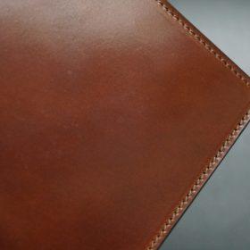 ホーウィン社製シェルコードバンの#4色の二つ折り財布(ゴールド色)-1-4