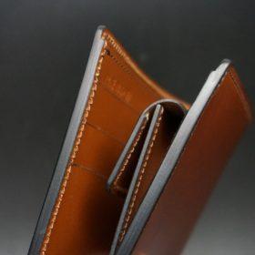 ホーウィン社製シェルコードバンの#4色の二つ折り財布(ゴールド色)-1-5