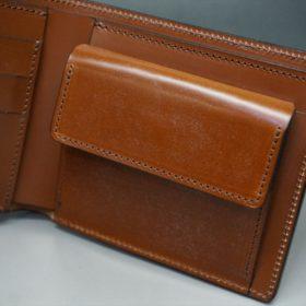 ホーウィン社製シェルコードバンの#4色の二つ折り財布(ゴールド色)-1-9
