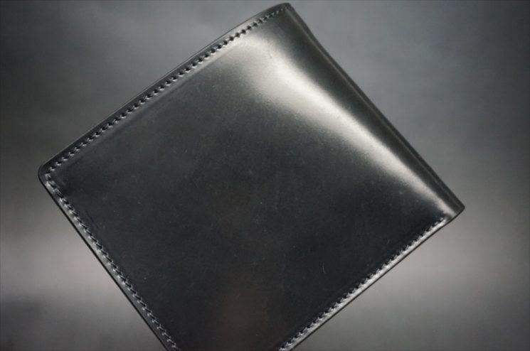 ホーウィン社製シェルコードバンのブラック色のサンプル