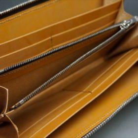 ホーウィン社製シェルコードバンのバーボン色のラウンドファスナー長財布(シルバー色)-1-10
