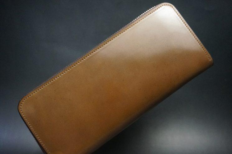 ホーウィン社製シェルコードバンのバーボン色を使用したラウンドファスナー(シルバー色)-2-1