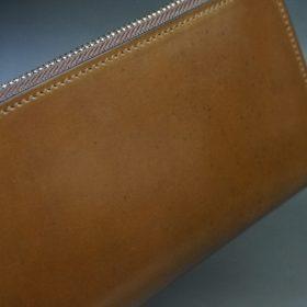 ホーウィン社製シェルコードバンのバーボン色を使用したラウンドファスナー(シルバー色)-2-3
