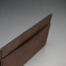 ホーウィン社製シェルコードバンの#4色のカードケース-1-6