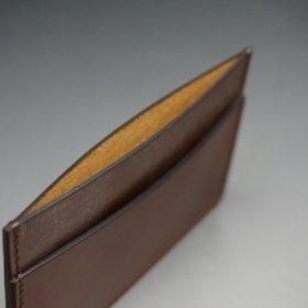 ホーウィン社製シェルコードバンの#4色のカードケース-1-7