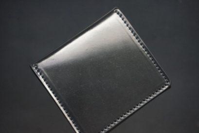 ホーウィン社製シェルコードバンのブラック色のスクエアタイプ小銭入れ(ゴールド色)-1-1