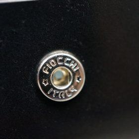ホーウィン社製シェルコードバンのブラック色の小銭入れ(シルバー色)-1-10