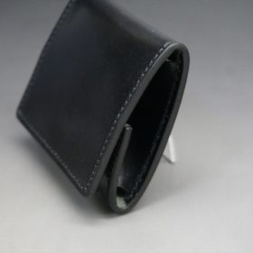 ホーウィン社製シェルコードバンのブラック色の小銭入れ(シルバー色)-1-3