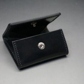 ホーウィン社製シェルコードバンのブラック色の小銭入れ(シルバー色)-1-7