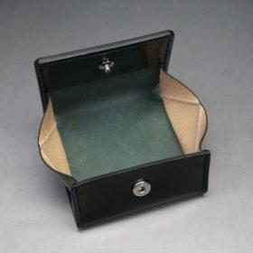 ホーウィン社製シェルコードバンのブラック色の小銭入れ(シルバー色)-1-8