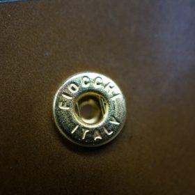 ホーウィン社製シェルコードバンのバーボン色の正方形タイプ小銭入れ(ゴールド色)-1-10