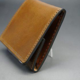 ホーウィン社製シェルコードバンのバーボン色の正方形タイプ小銭入れ(ゴールド色)-1-3