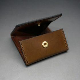 ホーウィン社製シェルコードバンのバーボン色の正方形タイプ小銭入れ(ゴールド色)-1-7