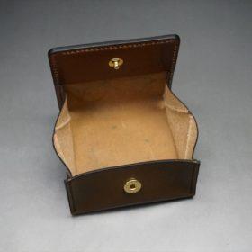 ホーウィン社製シェルコードバンのバーボン色の正方形タイプ小銭入れ(ゴールド色)-1-8