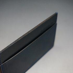 ホーウィン社製シェルコードバンのネイビー色のカードケース-1-6