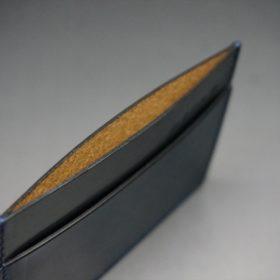 ホーウィン社製シェルコードバンのネイビー色のカードケース-1-7