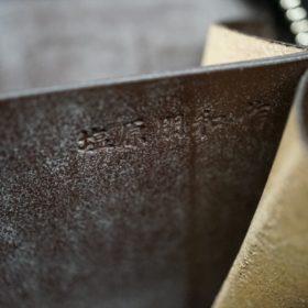 新喜皮革社製顔料仕上げコードバンのアンティーク色のラウンドファスナー小銭入れ(シルバー色)-1-12