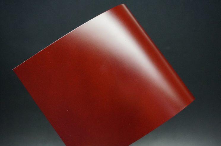 新喜皮革社製顔料仕上げコードバンのアンティーク色のサンプル