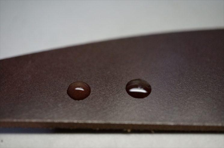 ロカド社製オイルコードバンの水ぶくれ前の画像