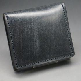 メトロポリタン社製ブライドルレザーのベンズ部位のブラック色の小銭入れ(ゴールド色)-1-2