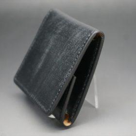 メトロポリタン社製ブライドルレザーのベンズ部位のブラック色の小銭入れ(ゴールド色)-1-3