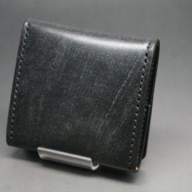 メトロポリタン社製ブライドルレザーのベンズ部位のブラック色の小銭入れ(ゴールド色)-1-4