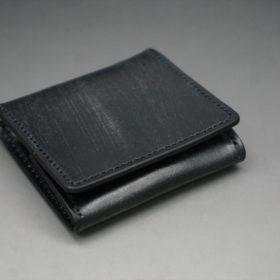 メトロポリタン社製ブライドルレザーのベンズ部位のブラック色の小銭入れ(ゴールド色)-1-6