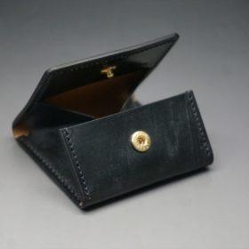 メトロポリタン社製ブライドルレザーのベンズ部位のブラック色の小銭入れ(ゴールド色)-1-7