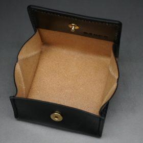 メトロポリタン社製ブライドルレザーのベンズ部位のブラック色の小銭入れ(ゴールド色)-1-8