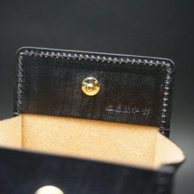 メトロポリタン社製ブライドルレザーのベンズ部位のブラック色の小銭入れ(ゴールド色)-1-9